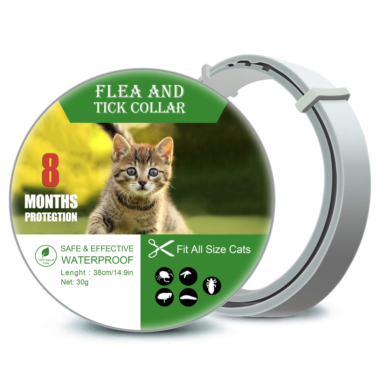 Colleen-Meloff Contral Cat Collar for Cats Up to 8 Months Protection -b3