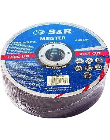 S&R 25 Discos de corte 125 Metal y Acero INOX .Set de 25 disco para