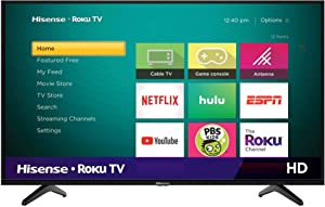 Hisense 32H4F 32-Inch LED Roku Smart TV with Alexa Compatibility (2020)