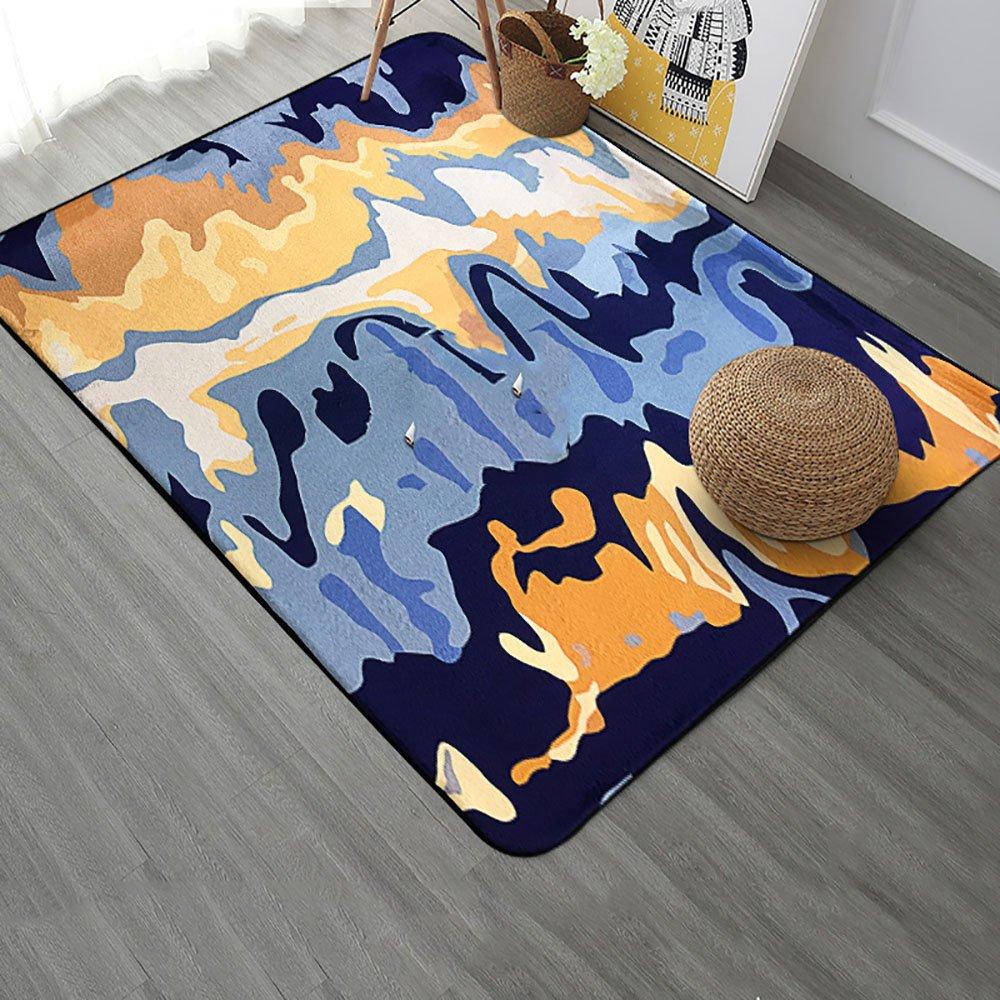 ZZHF シンプルな形状のカーペット/リビングルームコーヒーテーブルパッド/ベッドルームベッドサイド/ソファのフットパッド カーペットの下敷き ( 色 : F f , サイズ さいず : 100*150CM ) 100*150CM F f B07BP59WKZ