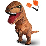 Halloween Originals Dinosaur Costume Inflatable T-Rex Costume Adult Inflatable Costume Brown