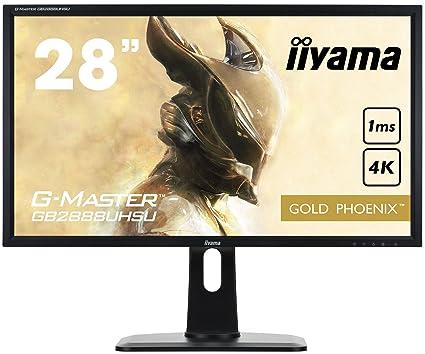 iiyama G-MASTER GB2888UHSU-B1 höhenverstellbare 28 Zoll Gaming-Monitore in 4K