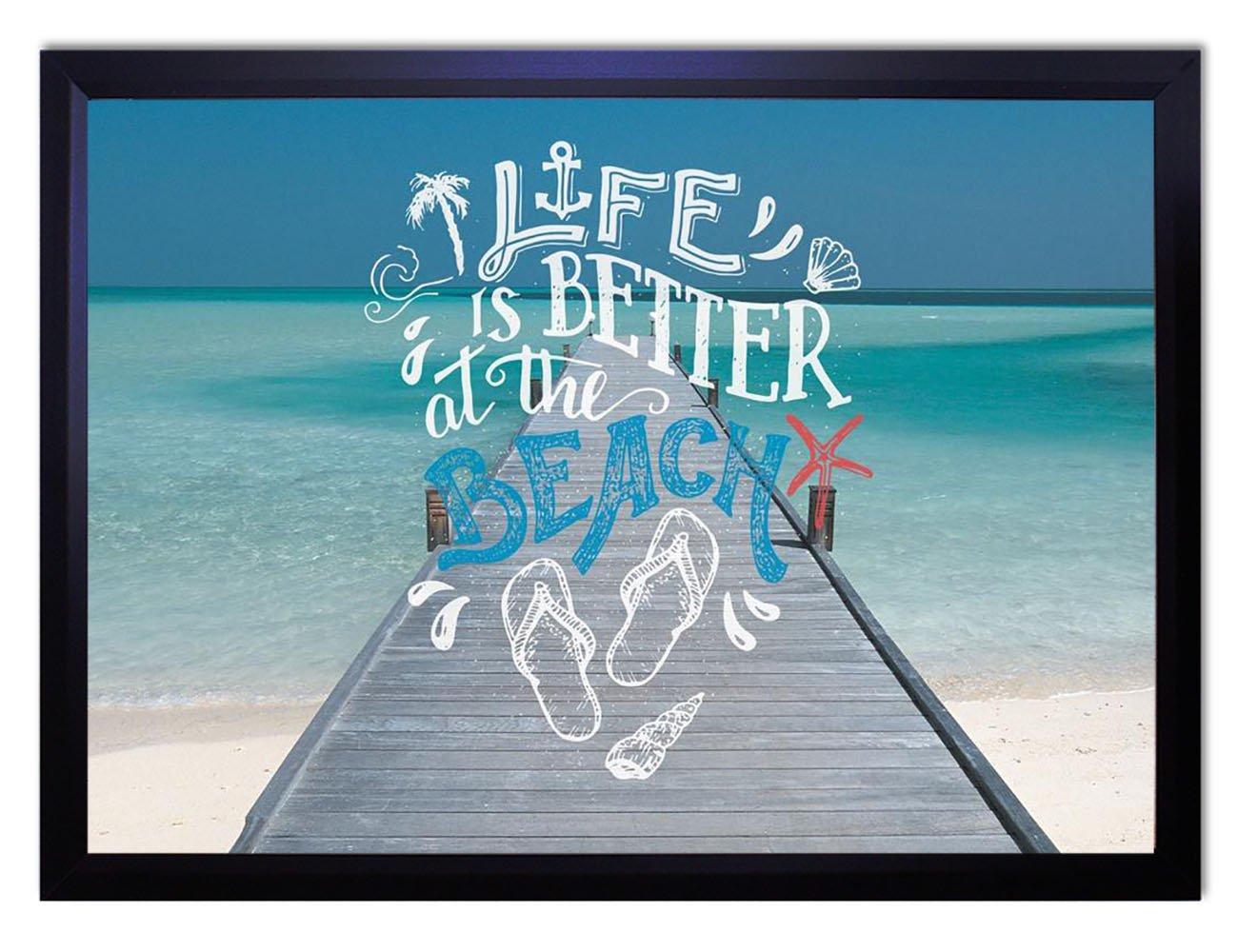 【DXポスター】海のポスター フレーム付き タイポグラフィ サーフ ハワイ 西海岸 リゾート モダン 現代アート P-A2-GLT-1604-0079-wh P-A2-GLT-1604-0079-wh B073SFZKYM A2サイズ(59.4cm×42cm)+ホワイトフレーム A2サイズ(59.4cm×42cm)+ホワイトフレーム