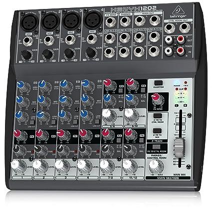 Amazon Com Behringer Xenyx 1202 Premium 12 Input 2 Bus Mixer With