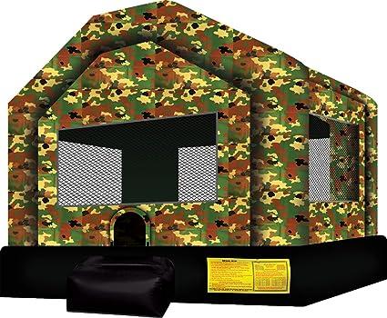 Amazon.com : Ninja Jump Military House Inflatable Bouncer ...