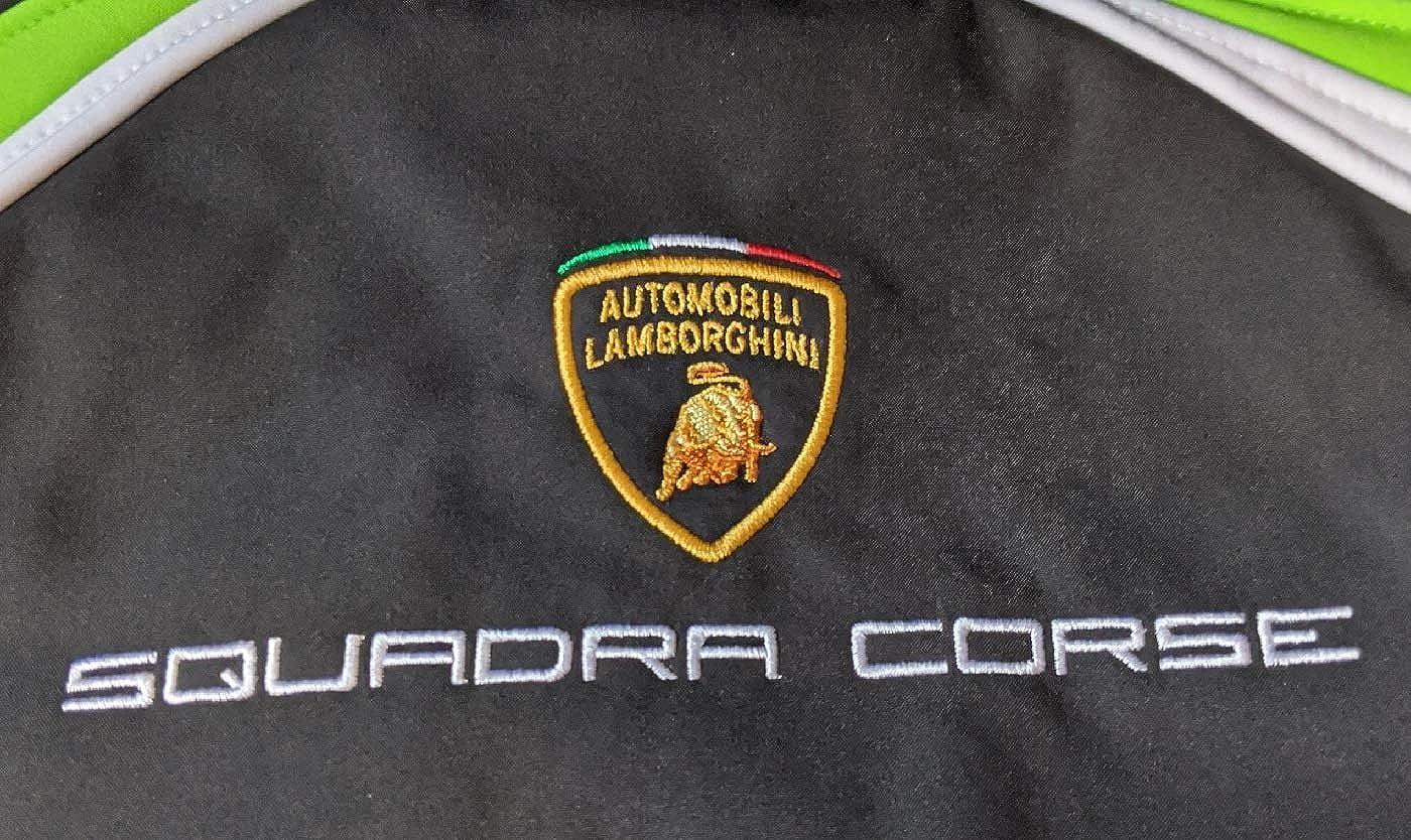 Automobili Lamborghini Childrens Jacket Black with Stripe