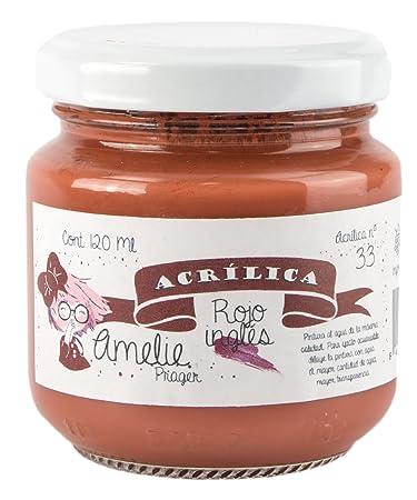 Baumarkt Auf Englisch amelie prager am120 33 acrylfarbe rot englisch 120 ml amazon de