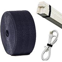 ANDERK 6 cm x 5 m niet-klevend klittenband voor het naaien klittenband kabelbinder, zwart