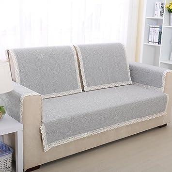Nclon Funda para sofá Toalla de sofá Verano Lino,Tela ...