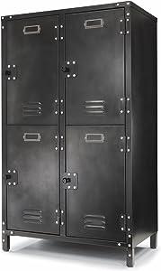 Allspace 4 Door Steel Storage Locker with Dark Weathered Finish - 240003