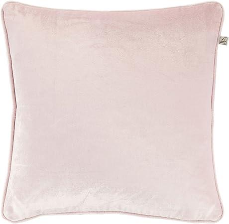 45 x 45 cm decoración Holandesa Fluweel Viscosa Funda de cojín de algodón, Color Rosa: Amazon.es: Hogar