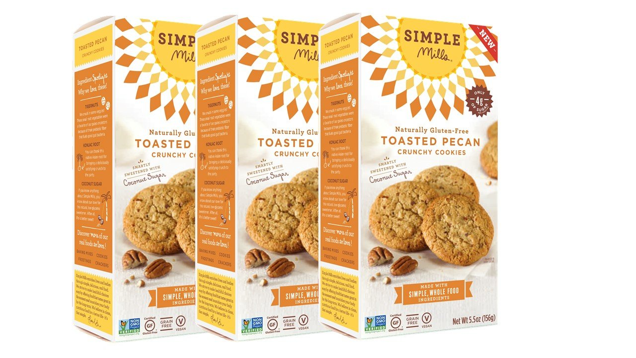Simple Mills Naturally Gluten-Free Crunchy Cookies, Toasted Pecan, 3 Count