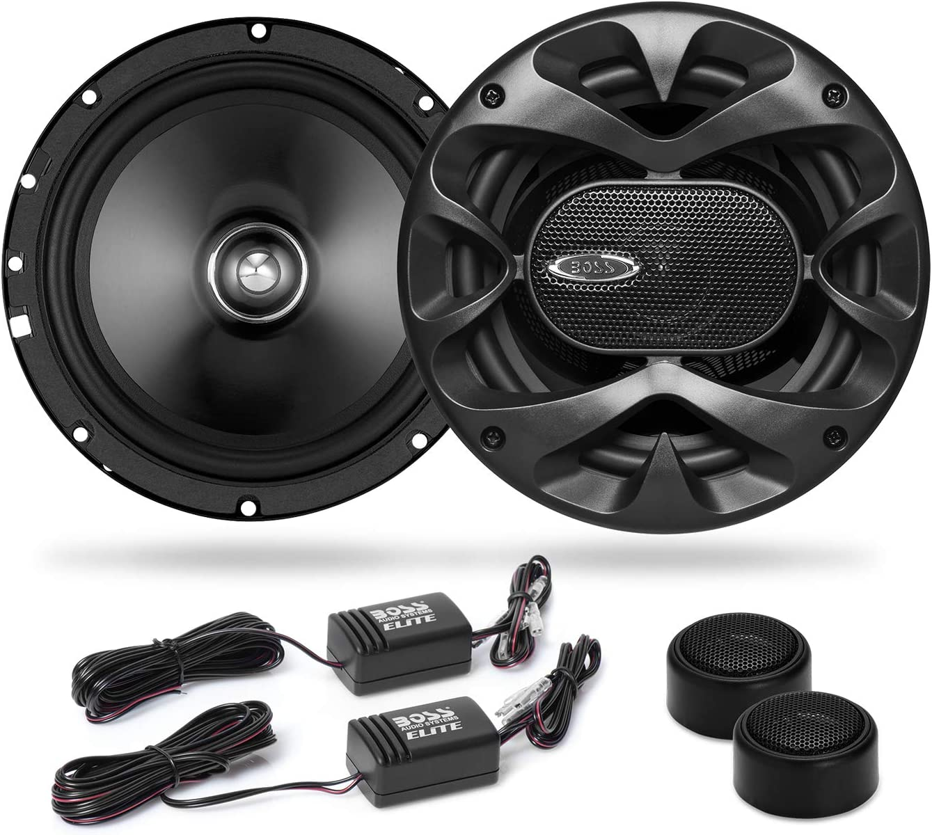 BOSS Audio Systems Elite BCK10 Component Car Speaker System - 10 10.10 Inch  Speakers, 10 Tweeters, 10 Crossovers, 3100 Watts Max Power
