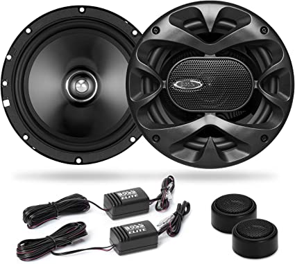 BOSS Audio Systems Elite BCK8 Component Car Speaker System - 8 8.8 Inch  Speakers, 8 Tweeters, 8 Crossovers, 380 Watts Max Power