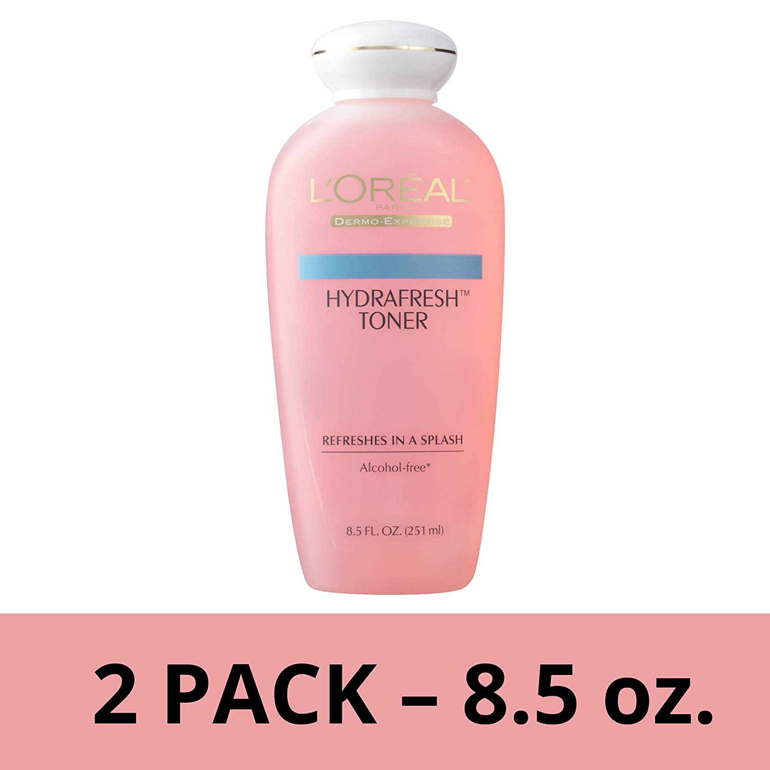LOreal Paris Skincare HydraFresh Alcohol Free Toner with Pro-Vitamin B5 for Face  Pack of 2