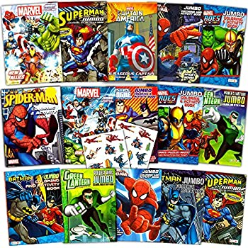 Superhero Ultimate Coloring Book Assortment 15 Books Featuring Avengers Spiderman Justice League