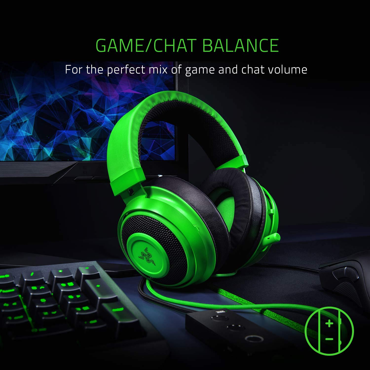 Razer Kraken Tournament Edition: THX Spatial Audio - Full Audio Control - Cooling Gel-Infused Ear Cushions - Gaming Headset Works with PC, PS4, Xbox One, Switch, & Mobile Devices - Black by Razer (Image #4)