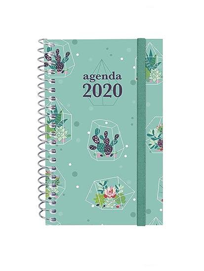 Finocam - Agenda 2020 semana vista apaisada Espiral Design Collection Cactus español