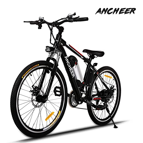 Ancheer Elektrofahrrad 26Zoll/20Zoll Zoll E- Bike Mountainbike, 25-50km/h Meilen Kilometerstand, 36V 8AH Abnehmbarer Akku and