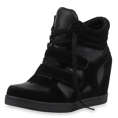 quality design 6714f 357ba SCARPE VITA Damen Sneaker Wedges mit Keilabsatz Basic