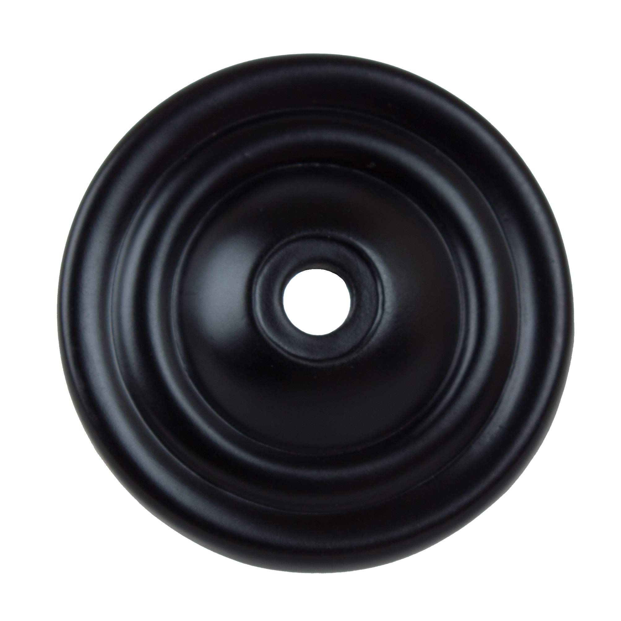 GlideRite Hardware 5061-MB-100 Thin Rounded Ring Cabinet Back Plate, 100 Pack, 1.5'', Matte Black by GlideRite Hardware (Image #3)