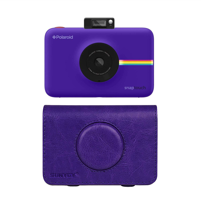 SUNYOY Housse en Cuir PU Pour Appareil Photo Instantané Polaroid Snap Touch (Bleu) Sunyoy Electronics SY-AMZ-008TB