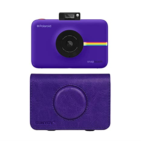 Sunyoy Housse En Cuir Pu Pour Appareil Photo Instantané Polaroid Snap Touch Violet