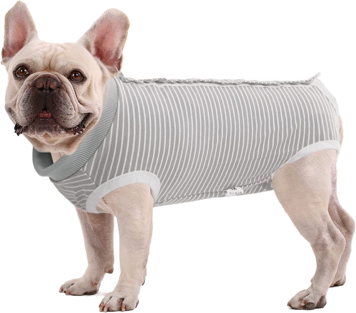 SAWMONG Recovery Suit for Dog, Dog Recovery Shirt for Abdominal Wounds, Pet Surgery Surgical Recovery Snugly Suit, Prevent Licking Dog Bodysuit, Substitute E-Collar & Cone