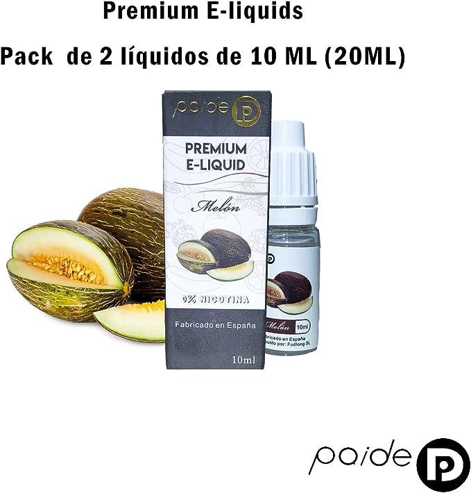 2 x 10ML Paide Premium E-Liquid - Sin nicotina - Líquido para ...