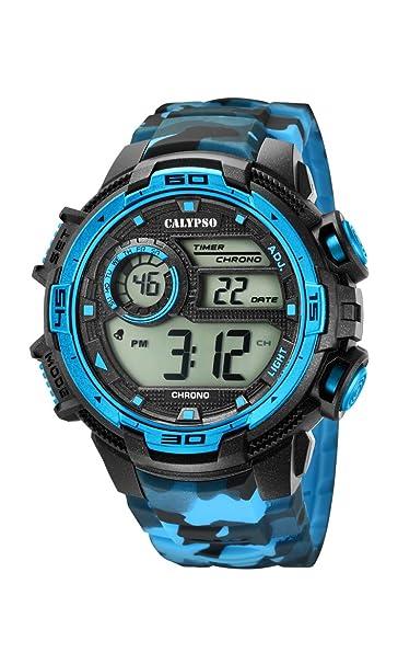 Calypso Reloj Digital para Hombre de Cuarzo con Correa en Plástico K5723/4: Calypso: Amazon.es: Relojes