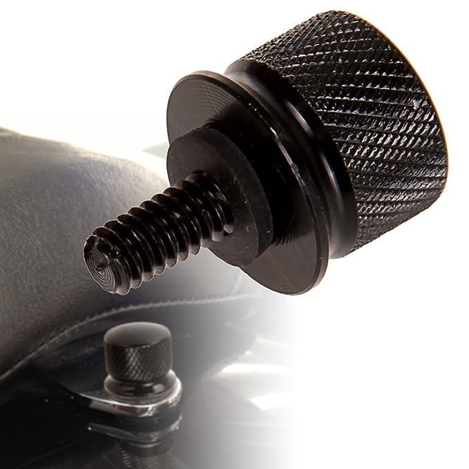 MagiDeal 1//4 \ CNC Seat Mount Bolt Schraube Schraubverschluss F/ür Harley Dyna Flitzer Schwarz