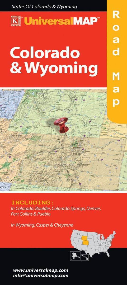 Colorado/Wyoming Folding Map: Universal Map: 9780762566914: Amazon ...