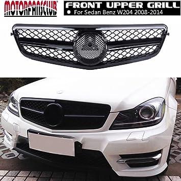 MOTORFANSCLUB - Rejilla delantera para Benz W204 AMG STYLE Clase C C180 C200 C260 08-14: Amazon.es: Coche y moto