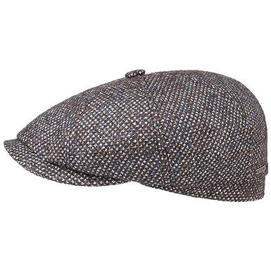 Stetson Hatteras Cerruti Flat Cap Men at Amazon Men s Clothing store  7aab2ca3a93c