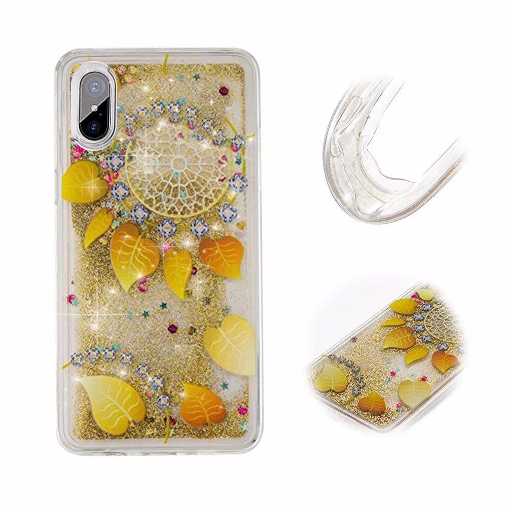 Bling Bling iPhone XS/X Hü lle, MingKun TPU Diamant Handyhü lle fü r iPhone X/iPhone XS Case Cover Silikon Crystal Glitzer Handy Tasche Schale - Parfü m Schwarz iPhone X / iPhone XS