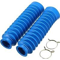 Alamor Par Moto De Goma Delantera Tenedor Protector De La Cubierta Polainas De Arranque Gaitor 4 Colores-Azul