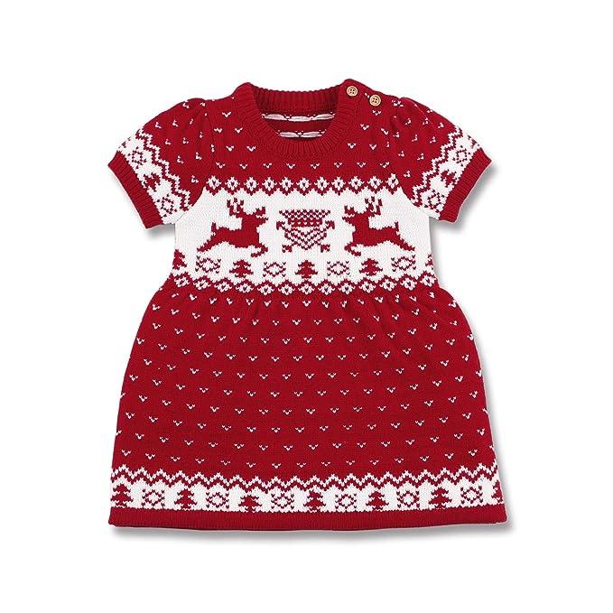 3341b49039b8 mimixiong Baby Girls Christmas Costume Toddler Reindeer Tutu Dress(Red,3-6  Months