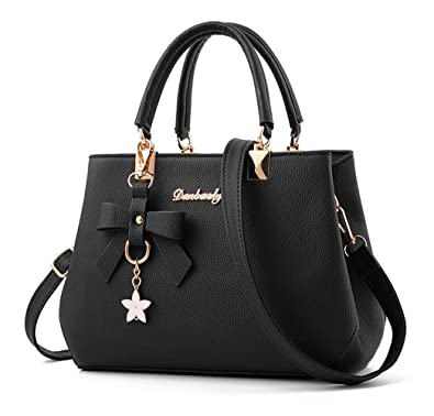 0e135c81b0 Amazon.com  Dreubea Womens Handbag Tote Shoulder Purse Leather Crossbody Bag  Black  Shoes