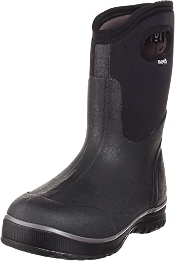 online store b93ab decc8 Bogs Men s Ultra Mid Insulated Waterproof Work Rain Boot, Black, 4 D(M