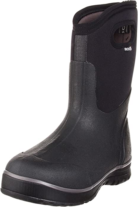 Bogs Men's Ultra Mid Insulated Waterproof Work Rain Boot, Black, 10 D(M) US best men's snowboots