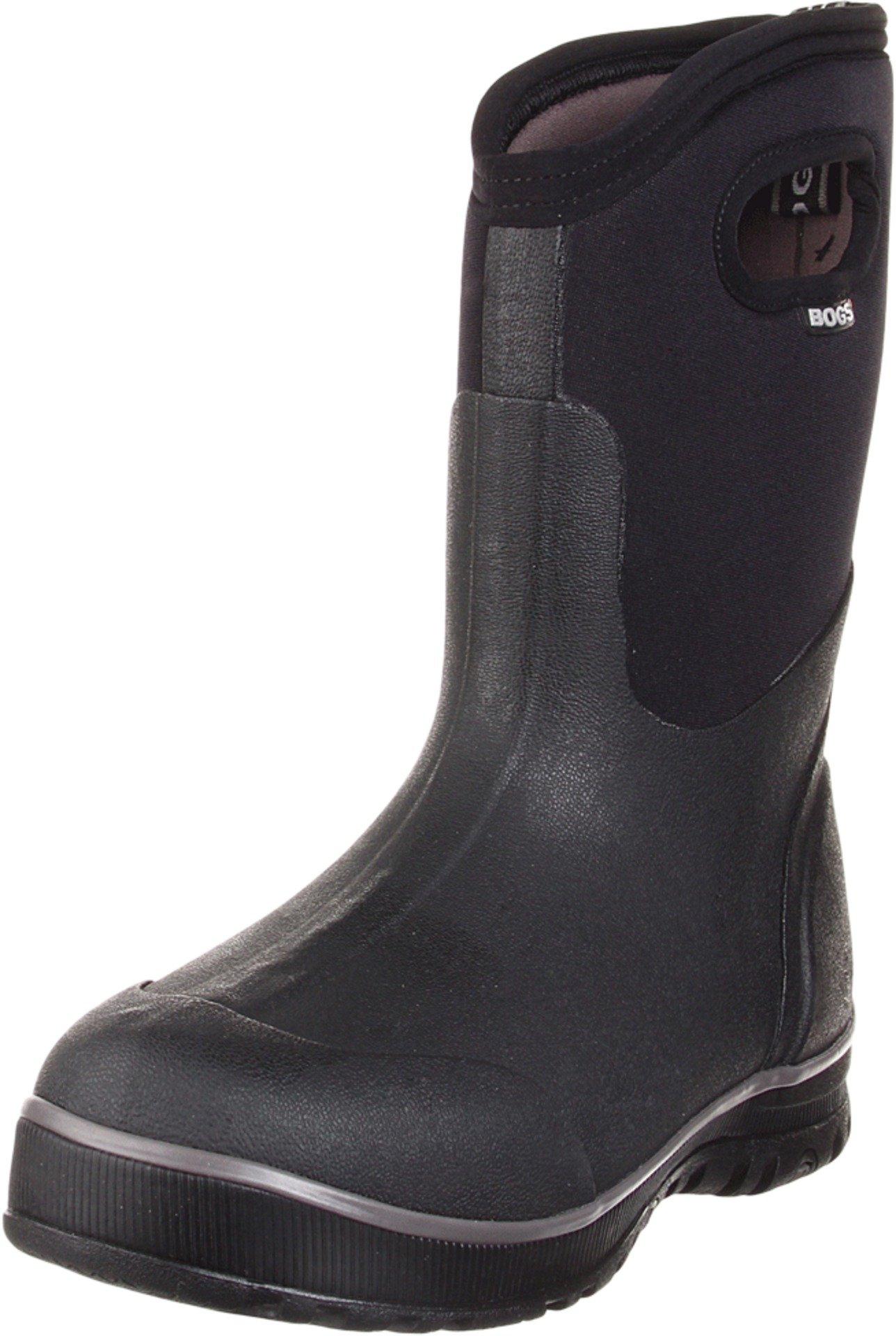 Bogs Men's Ultra Mid Waterproof Insulated Rain Boot, Black,8 M US