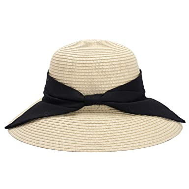 37539a5f101 2019 New Summer Women Straw Sun Hats Lady Foldable Beach Hat Fashion Bow  Tie Handmade Wide