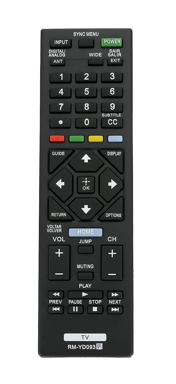 RM-YD093 交換用リモコン Sony TV KDL-32R424A KDL-32R434A KDL-32R435A KDL-39R475A KDL-40R455A KDL-40R457A KDL-40R475A KDL-40R485A KDL-42R474A KDL-42R475A KDL-46R455A KDL-24R405A KDL-24R407A KDL-   B07QS243LC