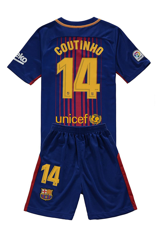 outlet store 41abf e8b40 MensHotyo 2017/2018 Barcelona Coutinho 14 Kids/Youths Home ...