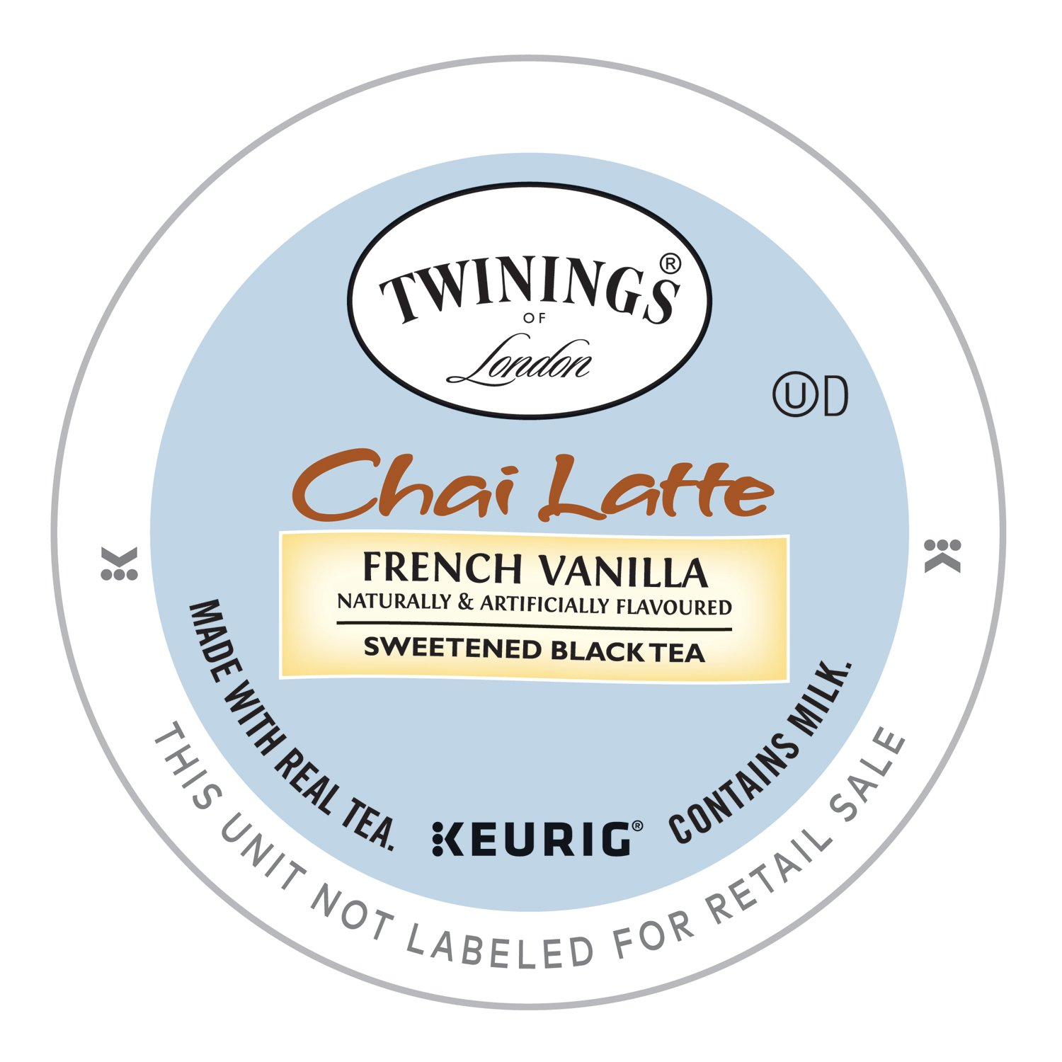 Twinings of London French Vanilla Chai Latte K-Cup for Keurig, 12 Count