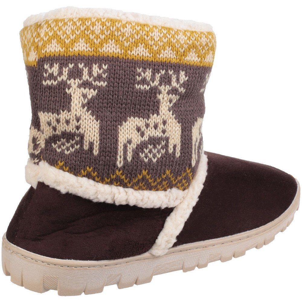 Divaz Womens Womens/Ladies/Ladies Denmark Faux 19995 Suede Pull on Bootie Slippers Slippers Brown 357962f - latesttechnology.space