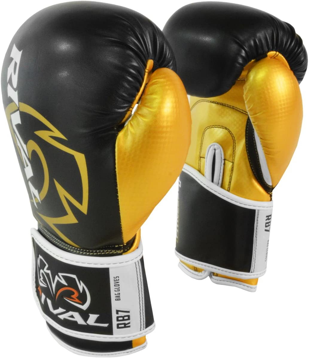 Gold Rival Boxing RB7 Fitness Plus MMA Training Bag Gloves Black