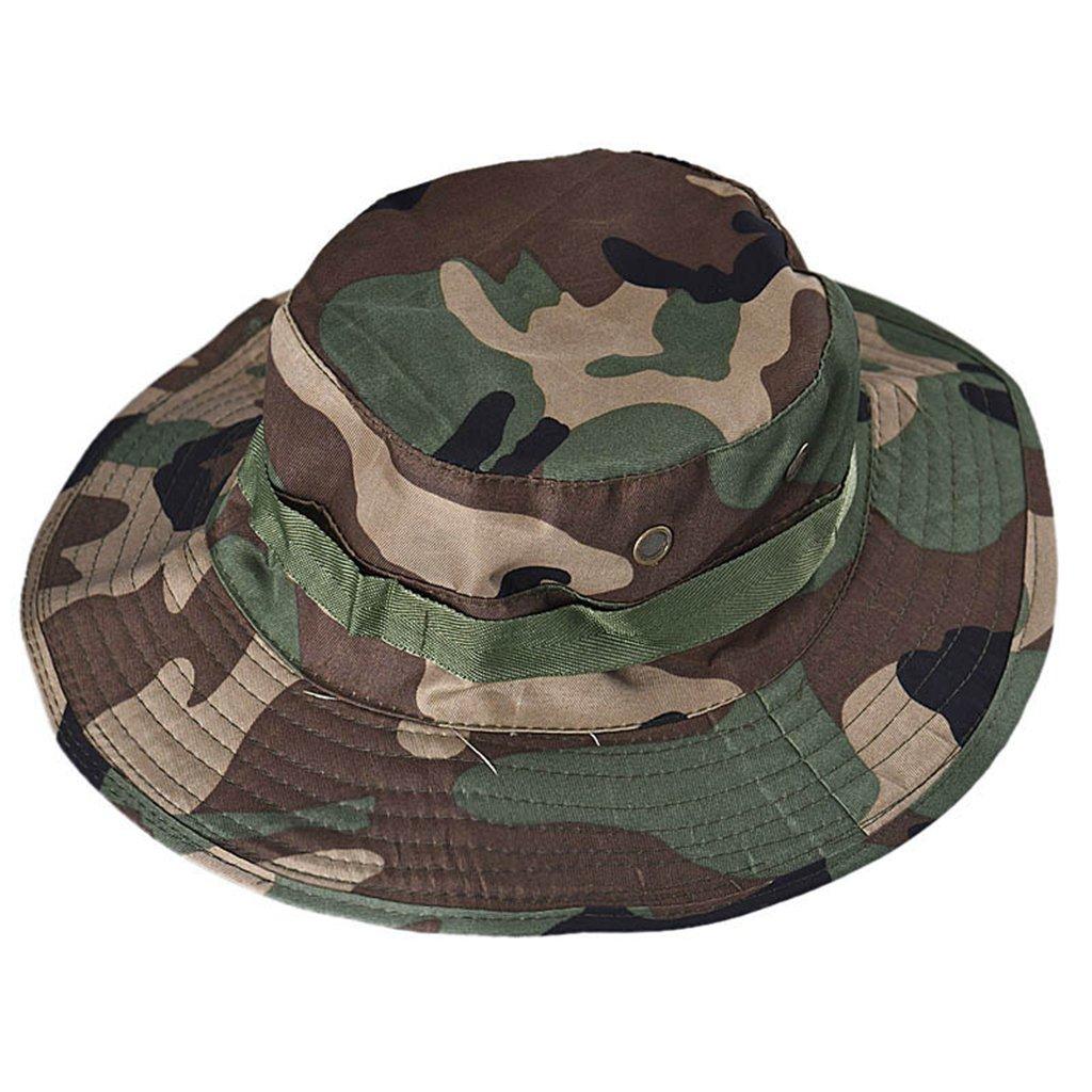 Bucket Hat Men Women chaofanjiancai Summer Hats Hunting Fishing Outdoor  Wide Cap Military Caps (Free 38864d50751