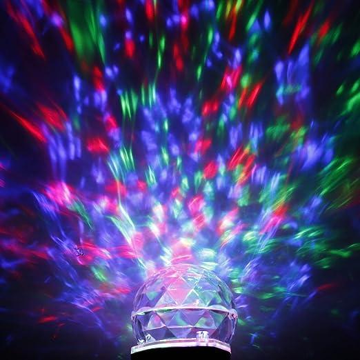 Luz Proyector LED, LESHP Proyectación Giratoria Impermeable Mágica ...
