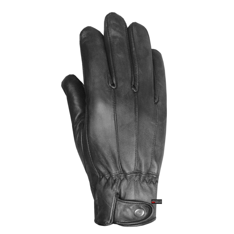 Mens Winter Premium Lambskin Thermal Lined Black Driving Dress Gloves